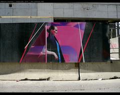 Woman in Color (vanKuso (Dominik Starosz)) Tags: woman toronto color construction ad advertisement urbanenvironment