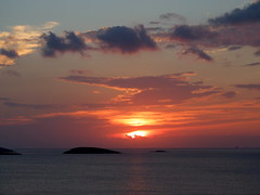 sunset in Aegean... (klentosharry) Tags: sunset sea sky colour water horizon aegean hellas fujifilm cyclades fujix20