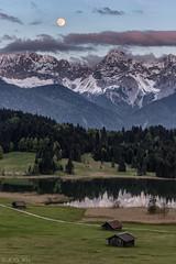 Full Moon over Karwendel Mountain (MC-80) Tags: sunset bayern fullmoon vollmond karwendel karwendelgebirge geroldsee