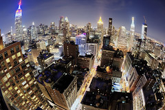 Big Apple Fisheye (Tony Shi Photos) Tags: chelsealandmark empirestatebuilding esb nyc newyorkcity newyork manhattan midtown midtownmanhattan manhattanskyline madsionsquarepark metlifetower fisheye citylife nightscape urbanlandscape 纽约市 纽约 曼哈顿 뉴욕시 뉴욕 맨해튼 ニューヨーク マンハッタン นิวยอร์ก ньюйорк न्यूयॉर्क nowyjork novayork 紐約市 紐約 曼哈頓 roof rooftop cityscape onemadison