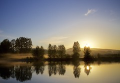 Clarity III (chris.ph) Tags: sunrise trees bedfordchannel reflection water morning fortlangley