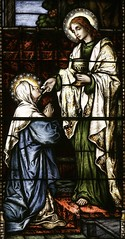 Our Lady receiving the Eucharist (Lawrence OP) Tags: stainedglass stjohn georgetown virginmary eucharist ourlady dahlgrenchapel