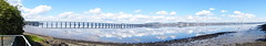 Panorama rail bridge/Dundee (nz_willowherb) Tags: weather reflections scotland fife dundee calm estuary tay lowwater highpressure railbridge wormit