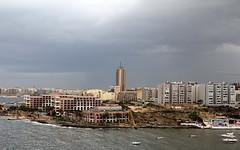 Thunder storm in St Georges Bay, Malta (Sam Rigby Photo) Tags: sea storm rain hilton malta lightening thunder corinthia