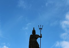 Defender of the skies (Charlotte Ruck) Tags: monmouth monmouthsire kymin walk statue admiral sky figure outdoor navy naval war
