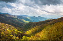 Great Smoky Mountains North Carolina Spring Scenic Landscape (Dave Allen Photography) Tags: sunlight mountains nature clouds landscape nationalpark nc spring tn tennessee scenic northcarolina valley cherokee gatlinburg smokies blueridge daveallen greatsmokymountains deepcreek wnc gsmnp outdoorphotographer