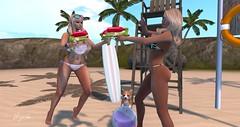 - WATER FUN - (BijankRau | [ photograp'r model.]) Tags: summer holiday beach water fashion shopping fun clothing gun photographer bc blondes models lifeguard bijou event bikini tropical shotgun couture