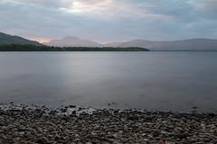 Ben Lomond (sj9966) Tags: longexposure sky sunlight clouds canon scotland sundown dusk benlomond lochlomond freshwater stoneybeach 10stop nd110 tenstop eos6dsj9966