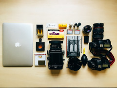 What's In Your Bag (N+T*) Tags: black saint canon eos 50mm nikon y mark f14 ii romeo yves nikkor opium julieta f28 dior laurent zippo ais tmax100 rz67 persol mamiyarz67 macbookpro ef2470mm