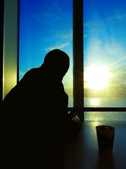 Relax (Kaarel Kaldre) Tags: travel sunset sea sky people sun window silhouette relax ship reis human meri aken pike laev siluett loojang taevas inimene