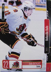 #22 Andy BATHGATE in action (kirusgamewornjerseys) Tags: game ice andy hockey belleville bulls worn jersey ohl bathgate
