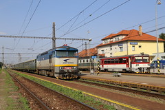 752 046-3 Trebisov, Slovakia 22 Jun 16 (doughnut14) Tags: electric rail loco slovensko slovakia grumpy notforprofit nfp trebisov bardotka 7520463 zeleznicne