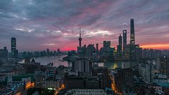 Timelapse of Lujiazui Shanghai (HIKARU Pan) Tags: china building horizontal clouds sunrise outdoors photography timelapse asia shanghai cloudy chinese aerialview jinmaotower thebund lujiazui huangpuriver orientalpearltvtower shanghaitower 24l 1dx timelapsevideo shanghaiworldfinancialcenterswfc canonef24mmf14liiusm