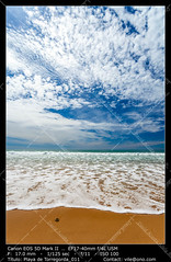 Beach of Torregorda (__Viledevil__) Tags: travel blue sea summer sky cloud sunlight seascape color beach nature water season landscape outdoors sand day vibrant scene fresh heat coastline tranquil tranquilscene vibrantcolor destinations traveldestinations beautyinnature wavesun