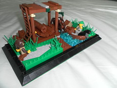 LoR industrious land of Lenfald: Logging (the lazir) Tags: lego logging lor sawmill peasant lenfald