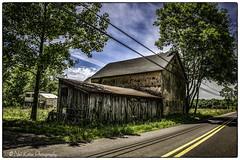 Barn by the road_DSC1766 photoshop NIK edit © (nkatesphotography) Tags: county landscape outdoors barns scenic pa farms bucks nikond3x nikonafs2470f28