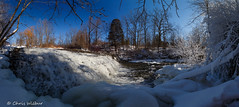 Winter Morning at Darnley Cascade (awaketoadream) Tags: morning blue winter sky panorama white snow cold ice water flow waterfall exposure angle wide falls quick cascade darnley
