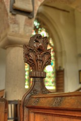 St Mary Magdalene, Ickleton, Cambridgeshire (robh London) Tags: benchend finial poppyhead stmary magdalen mary ickleford boss wood