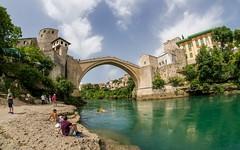Mostar (02) (Vlado Fereni) Tags: bridge sky clouds cloudy mostar bridges rivers neretva bosniaherzegovina riverneretva nikond600 sigma1528fisheye