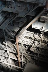 Shoots and ladders (7ordek) Tags: light abandoned industry metal stairs nikon rust industrial decay steel exploring explorer pipe neglected forbidden forgotten urbanexploration jungle huge disused powerplant kraftwerk coal heavy explorers exploration derelict beams emptiness decayed thrill trespassing ue urbex d90 furnance opuszczone