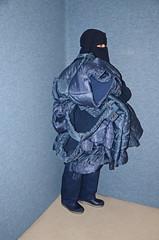 Nine Jackets (Buses,Trains and Fetish) Tags: winter hot girl warm coat jacket sweat anorak slave burka chador niqabhijab
