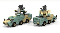 Kaz-70 Amphibious with S-72 Launcher (ABS doohickies) Tags: lego ldd dc6 missile vehicle render povray anti aircraft transnistria