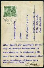 Archiv G051 Kartenrckseite, Wien, Poststempel vom 5. September 1912 (Hans-Michael Tappen) Tags: wien sterreich stamps 1912 1910s postkarte briefmarke poststempel 1910er archivhansmichaeltappen