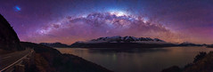 The Thomson Mountains (robjdickinson) Tags: new night way stars photography pano panoramic astro zealand galaxy queenstown milky glenorchy wakitipu astroscape