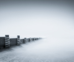 Shadows in the Mist (paulantony2) Tags: longexposure blackandwhite seascape coast groyne