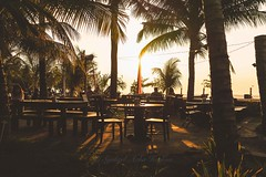 Dinner with view (Syahrel Azha Hashim) Tags: travel light sunset vacation people bali holiday detail dinner 35mm indonesia prime restaurant evening colorful dof outdoor getaway sony details naturallight tropical handheld romantic dining shallow simple dramaticsky kuta coconuttrees 2015 a7ii colorimage sonya7 syahrel ilce7m2