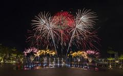 NDP Combined Rehearsal 1 - Fireworks, Singapore (gintks) Tags: reflection landscapes singapore fireworks colourful singapur nationalday nationaldayparade 2016 kallangriver singaporetourismboard sportshub kallangwave gintks gintaygintks