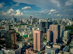 Bangkok Skyline (Laith Stevens Photography) Tags: life city skyline clouds buildings thailand asia bangkok capital olympus clear huge omd em1 goneawol cloud47 olympusinspired
