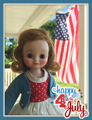 Happy 4th of July! (Foxy Belle) Tags: doll 4th july usa betsy mccall red white blue holiday united states flag porch outside