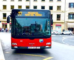 Bilbobus 77 (inigo.vanaman) Tags: espaa man bus del spain country bilbao mina transportation autobus 77 bizkaia basque morro euskadi arenal bilbobus peascal