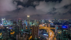 Timelapse of Shanghai City (HIKARU Pan) Tags: china building horizontal clouds outdoors photography timelapse asia shanghai cloudy chinese aerialview 24l 1dx timelapsevideo canonef24mmf14liiusm