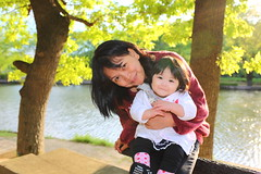 Just me with Baby Rheina (^-^) (Spice  Trying to Catch Up!) Tags: family portrait people woman baby holiday color tree love water girl smile face japan female geotagged asian happy photography japanese spring pond infant asia thought child affection mommy mama human babygirl passion  feeling kindness bonds   motherandchild tenderness bonding hija    goldenweek    springseason