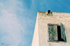 window (Ali Elfatouaki) Tags: blue sky white green window wall clouds morocco rabat oudayas sal oudaya elfatouaki