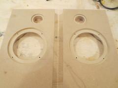 Speakers baffles cut for Boombox (burritobrian) Tags: diy speaker boombox overnightsensations speakerbuild sd215a88