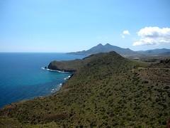 view from mirador el amatista (katie g*) Tags: park trip travel viaje parque costa beach coast spain south may playa sur mayo cabodegata viajar 2013 andalucia espana almeria