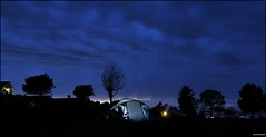 camping at night (dirklie65) Tags: blue camping sky clouds dark island nightshot himmel wolken tent insel romantic dnemark zelt bornhom