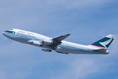 Cathay Pacific Airways Boeing 747-400 B-HUJ (jbp274) Tags: airport sfo airplanes cx boeing 747 cathaypacific ksfo