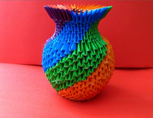 3d colorful vase