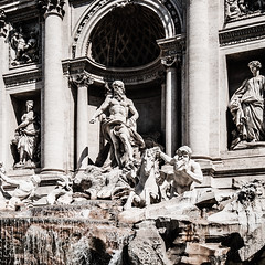 Rome, Italy (Elisabeth Brough) Tags: old italy rome castle stone architecture buildings ruins statues tourists colosseum trevifountain traveling fountains