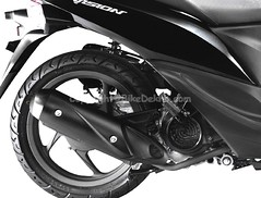 Honda Vision 110 ( Silencer View ) (girnar1) Tags: bike honda view 110 vision silencer