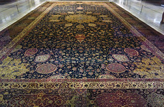 Ardabil Carpet, view down