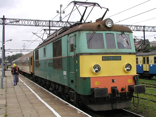 PKP ET21-456 at Jaslo on 10.39 Zagorz - Gwlice 2005 09 15