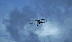 Flying low .... (Sandalwood19) Tags: charleslamb lowflyingaircraft torpedobomber faireyswordfish ralphrichardson cloudsstormssunsetsandsunrises warinastringbag