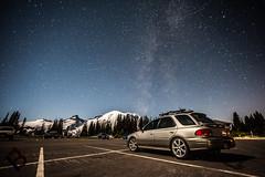 Mt Rainier National Park (Mark A. Bowers) Tags: red sky mountain way stars mt space galaxy rainier milky