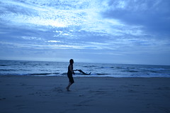 DSC_4009 (inukoinuo) Tags: blue sunset sea summer portrait sky beach nature beautiful japan clouds japanese sand nikon wide nofilter noeffect d7000 nikond7000