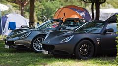 Nice combo! (Gert-JanS) Tags: black cars ex car canon eos grey switzerland lotus elise duo sigma ii 28 70200 f28 campsite matte dg combo 70200mm lightweight 500d carspotting hsm